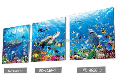 चीन Sea World Pictures Lenticular Printing Services 3D Picture House Decoration आपूर्तिकर्ता