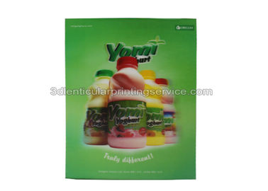 Food / Drinking Advertising  3D Lenticular Poster High Definition Design